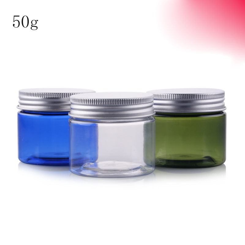 50Pcs 50g Portable Plastic Cosmetic Empty Jar Pot Box Makeup Nail Art Cosmetic Bead Storage Container Round Bottle Transparent-in Refillable Bottles from ...  sc 1 st  AliExpress.com & 50Pcs 50g Portable Plastic Cosmetic Empty Jar Pot Box Makeup Nail ...