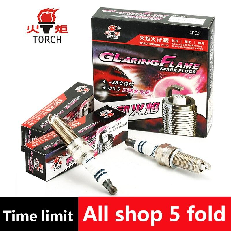 4 pcs/lot Chine d'origine TORCHE Iridium U groove spark plug LDK7RAIU pour KIA ceed/cerato/picanto/pro ceed/rio/soul/sportage/venga