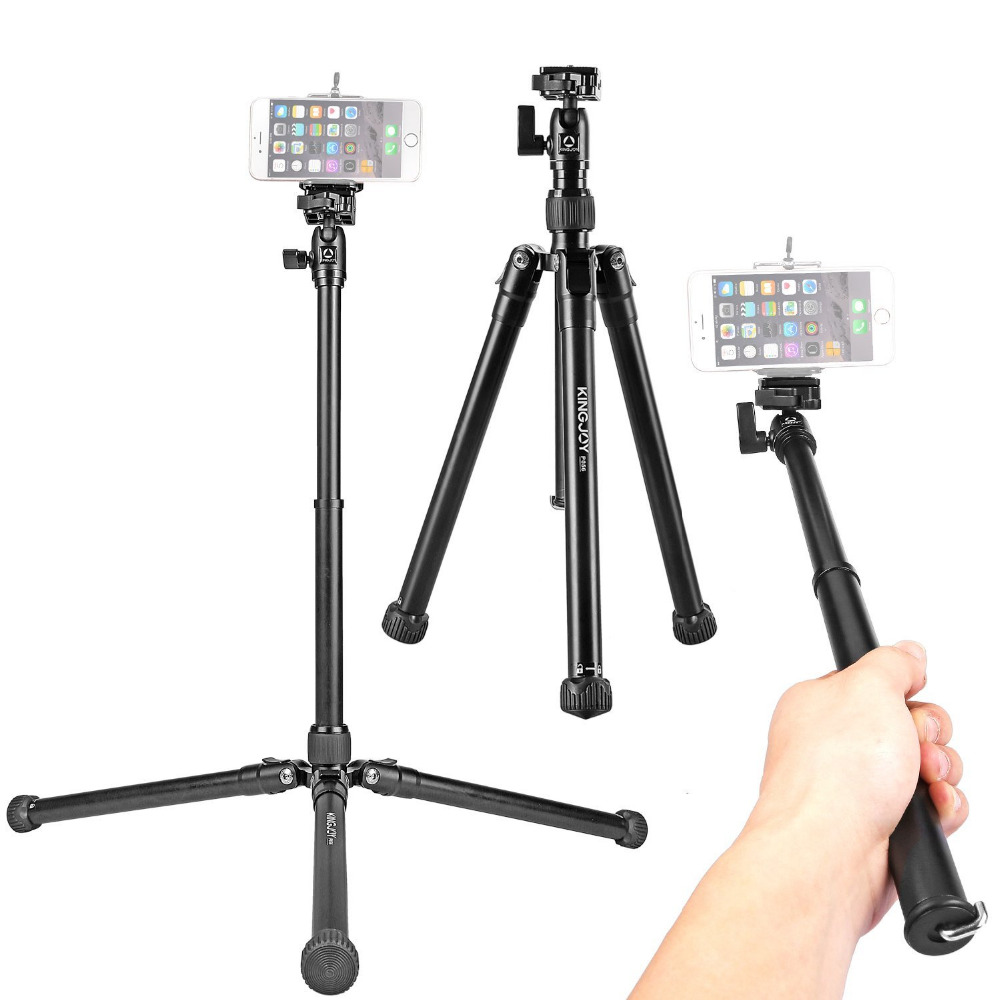 Kingjoy P056 5-Section DSLR Camera Tripod for Canon Sony Camera Stand Light & Portable Aluminum Tripod Selfie Stick F20860 сумка river island river island ri004bwzyz56