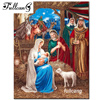 FULLCANG nativity story 5d mosaic diamond painting cross stitch diamond embroidery religious icons full square rhinestones F542