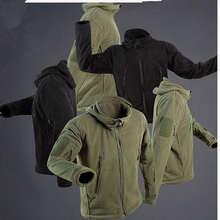 New Military Tactical Fleece Jacket Soft Shell Men Thermal Hunting Hiking Coat Outdoor Sport Windproof Keep Warm Hoodie Jackets