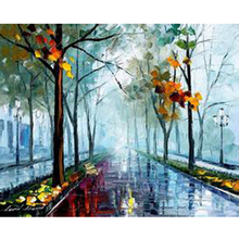 Handmade Modern Abstract Oil Painting On Canvas Landscape Nature Tree Wall Art Picture With No Framed For Living Room