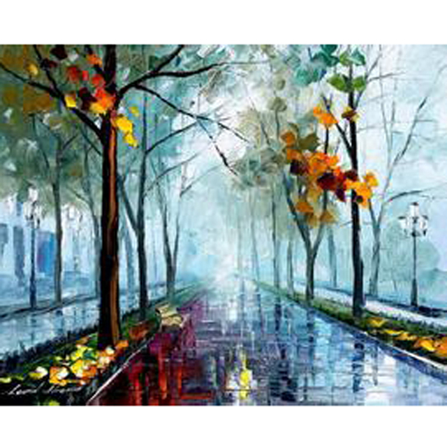 Handmade Modern Abstract Oil Painting On Canvas Landscape Nature ...