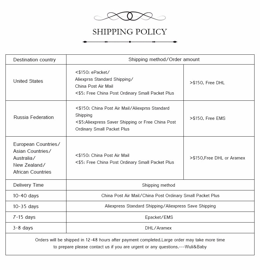 2shipping policy