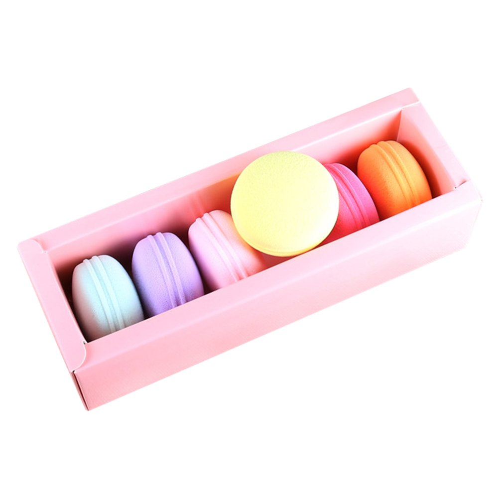 6PCS Macaron Shape Face Foundation Cosmetic Puff Tool Kit Blusher Puff 2018 New Arrival ponge Makeup Powder kinepin soft cosmetic puff versatile gourd makeup sponge make up foundation sponge blender face powder puff sponge cosmetic tool