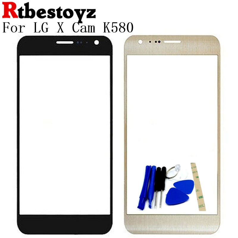 RTBESTOYZ 5.2 Front Screen Outer Glass Touch Outer Cover Panel LENS For LG X Cam K580 Touchscreen