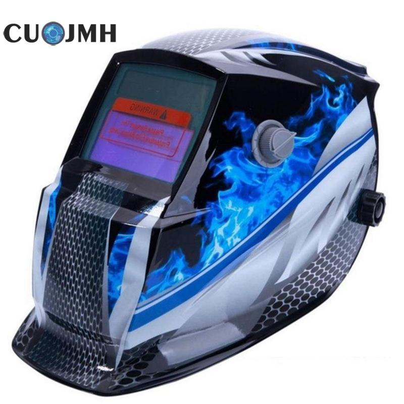 1 Pcs Light Welding Mask Solar Auto Darkening Head-mounted Argon Arc Welding Mask Personal Protective Gear Welder's Mask 10 pcs argon arc welding cerium tungsten electrodes 1 6mm x 150mm gray