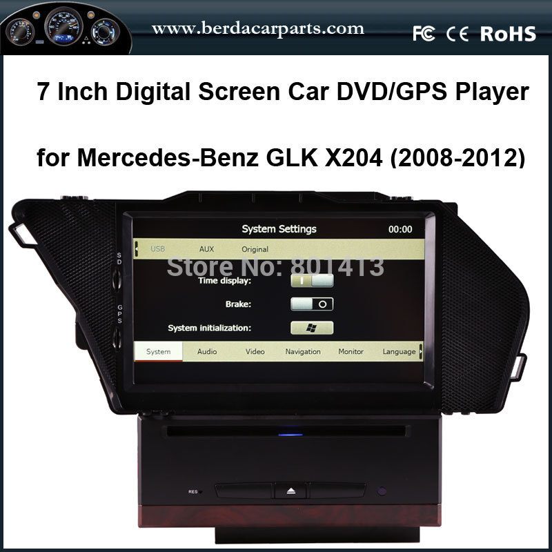 Car DVD GPS for Mercedes Benz GLK X204 with GPS+IPOD+SD+USB+RCA+AUX CAN BUS