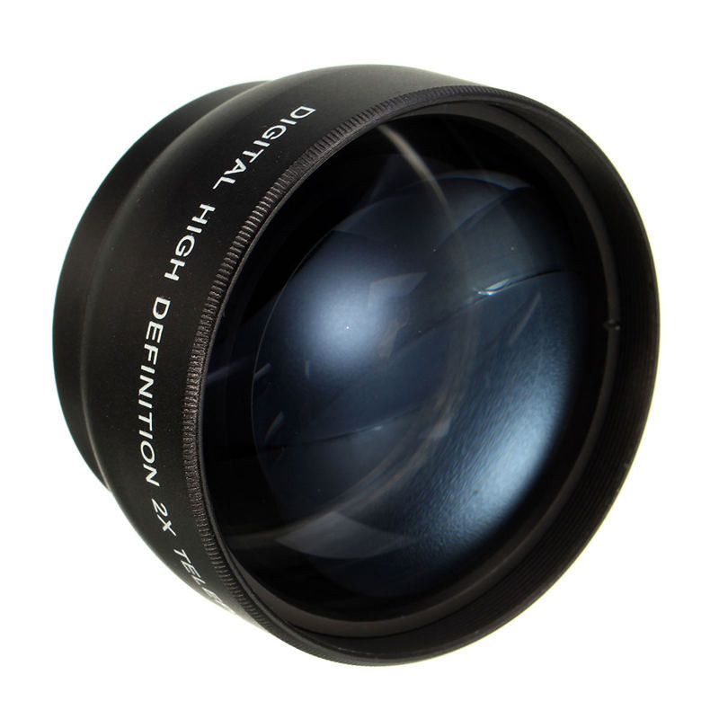 52MM camera 2X Telephoto Lens For Nikon D7100 D5200 D5100 D3100 D90 D60 and Other DSLR Camera Lenses With 52MM Filter Thread image
