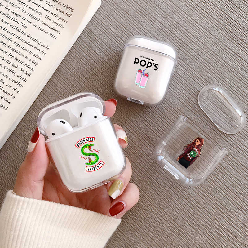 Cartoon American TV Riverdale Earphone Case For Airpods Protective Cover Transparent Hard Case for Apple Airpods Charging Bags