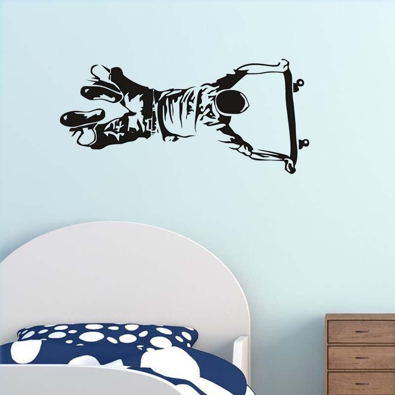 Self Handstand Skate Boy Wall Sticker For Kids Room Wall Decor