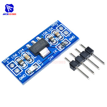 diymore DC 6.0 -12V to 5V AMS1117-5.0V Step Down Buck Converter Power Supply Module AMS1117-5.0 for Arduino image