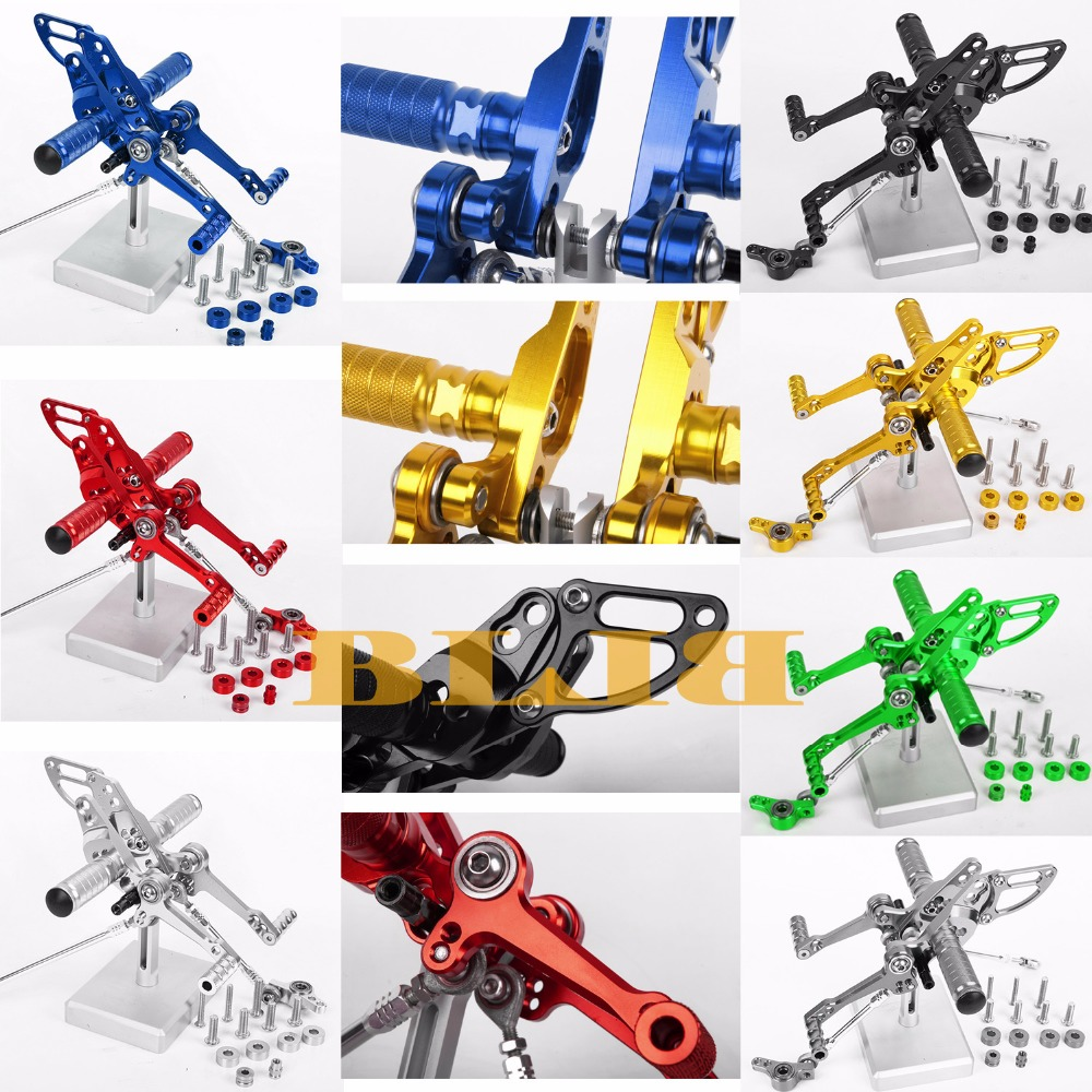 8 Color For Ducati STREETFIGHTER 848 1100 All Years CNC Adjustable Rearsets Rear Set Motorcycle Footrest High-quality Moto Pedal