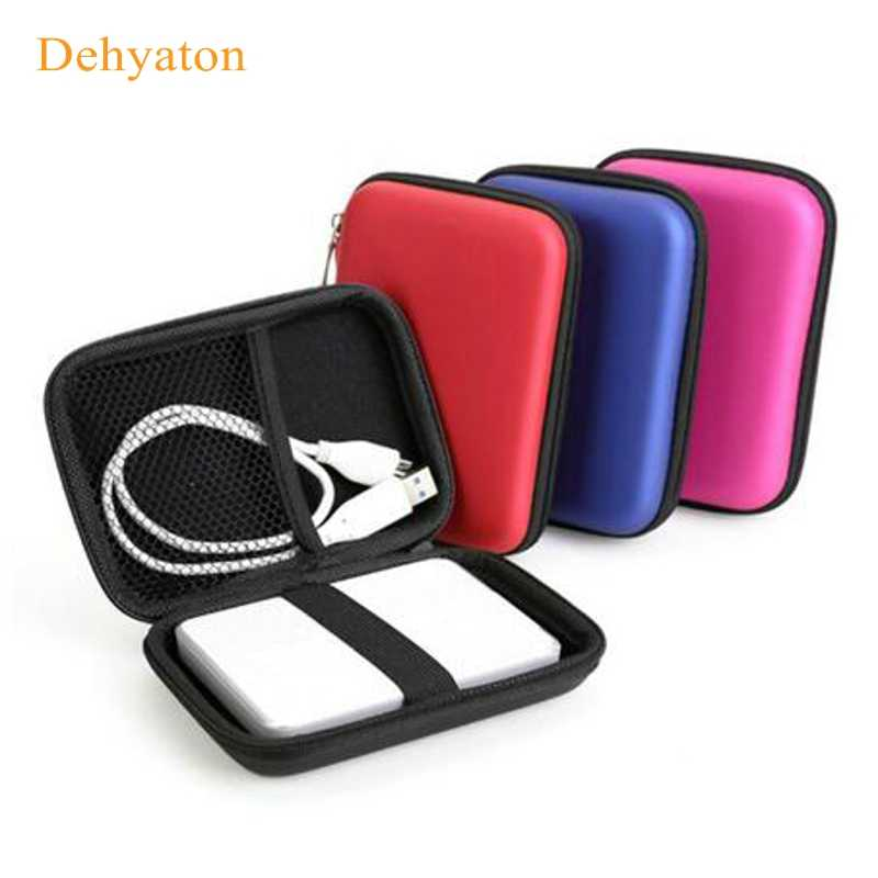 "2.5"" HDD Bag External USB Hard Drive Disk Carry Mini Usb Cable Case Cover Pouch Earphone Bag for USB PC Laptop Hard Disk Case"