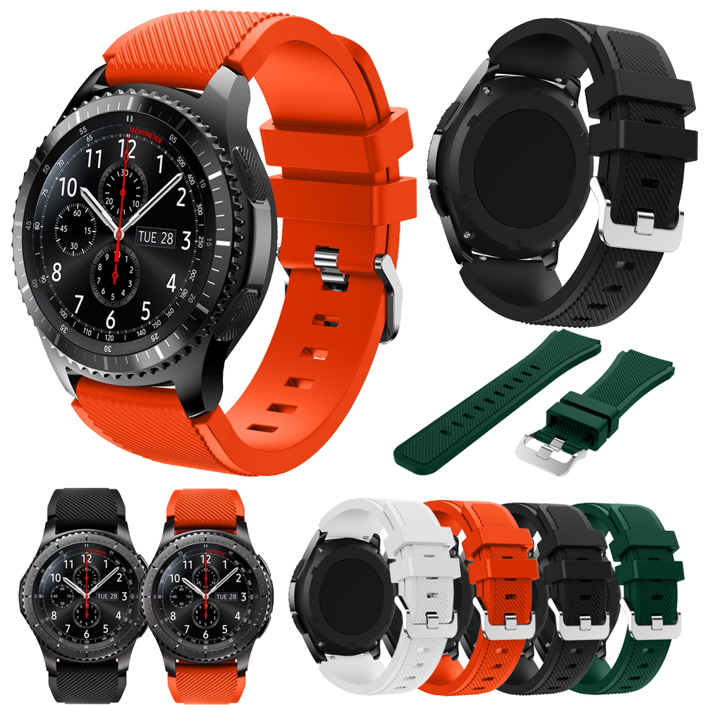 100PCS 18 Color Silicone Watchband for Gear S3 Classic Frontier 22mm Watch Band Strap Replacement Bracelet