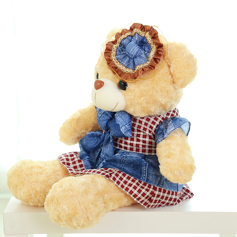 prince skirt bear plush toy large 100cm bear soft throw pillow, Christmas birthday gift F008 lovely bear plush toy large 130cm bear soft throw pillow christmas birthday gift f012