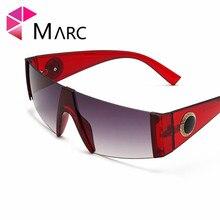 MARC New Oversized Goggles Women Men Big Frame Colorful Lens Sunglasses Ladies Summer Sun Glasses Unisex Eyeglasses Gradient
