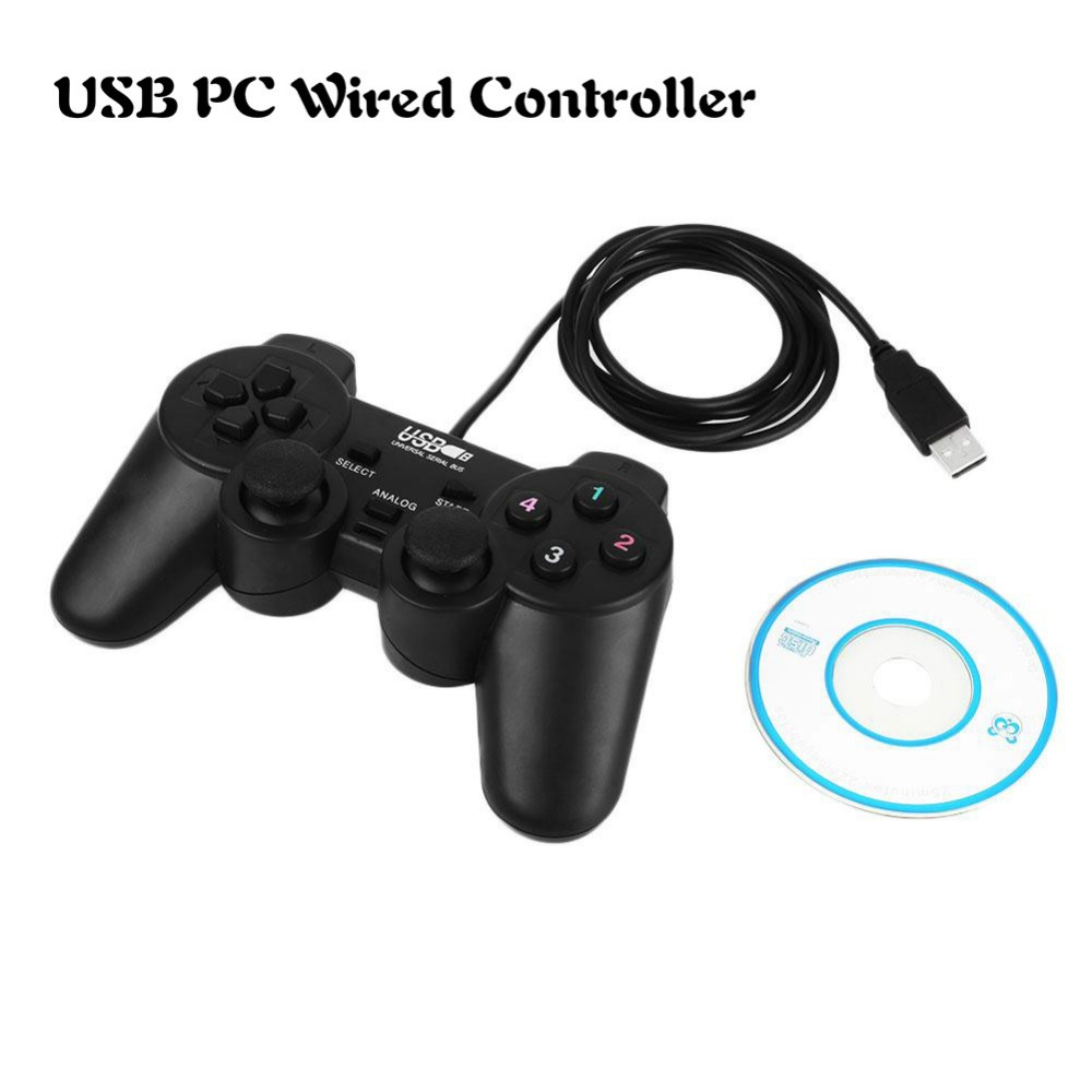 цены  Gasky USB Gamepad Joystick Wired Joypad Wired Game Controller controle for PC for Windows 7 Games Accessories Mini Black