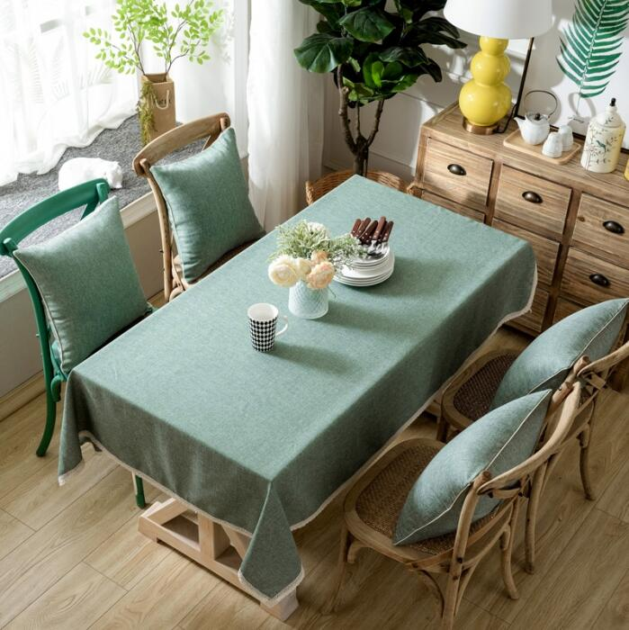 Home Decor Dining Table: Bamboo Table Cloth Home Decor Shabby Dining Cover