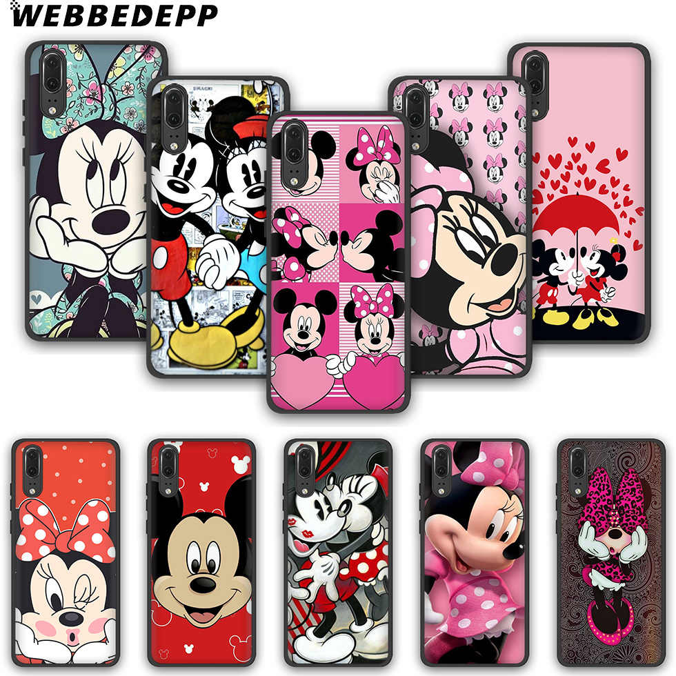 WEBBEDEPP Mickey Mouse mickey Minnie Women Queen TPU phone case for Huawei P10 P20 P30 Lite Pro Y6 Y7 prime 2018 Y9 2019