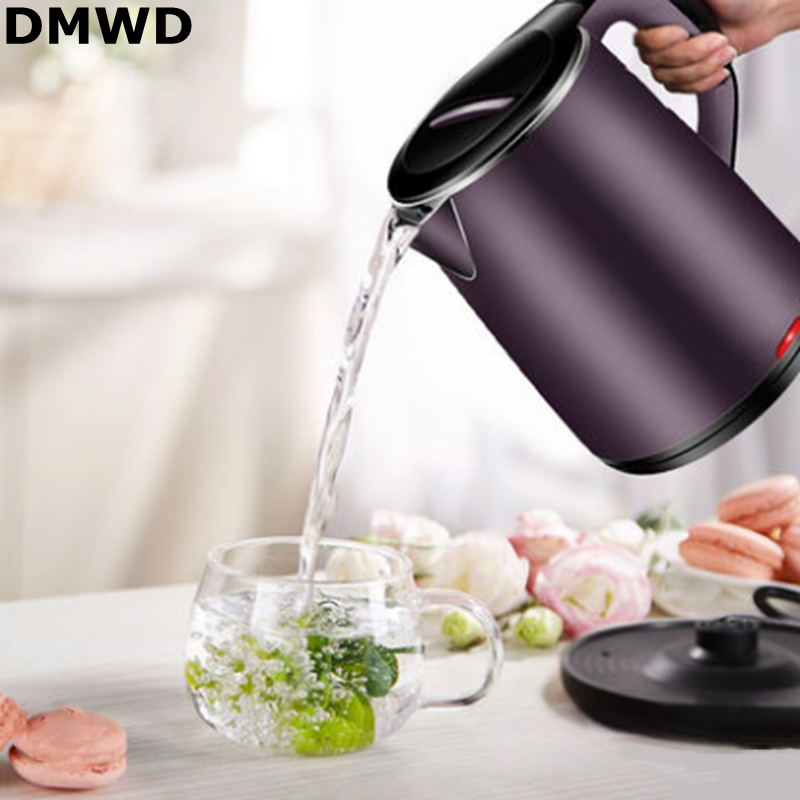 DMWD 220V/50Hz/1500W 1.8L Underpan Heating Thermal Insulation Electric Kettle Steam Inductive Switch Fast Boiling Electic Pot