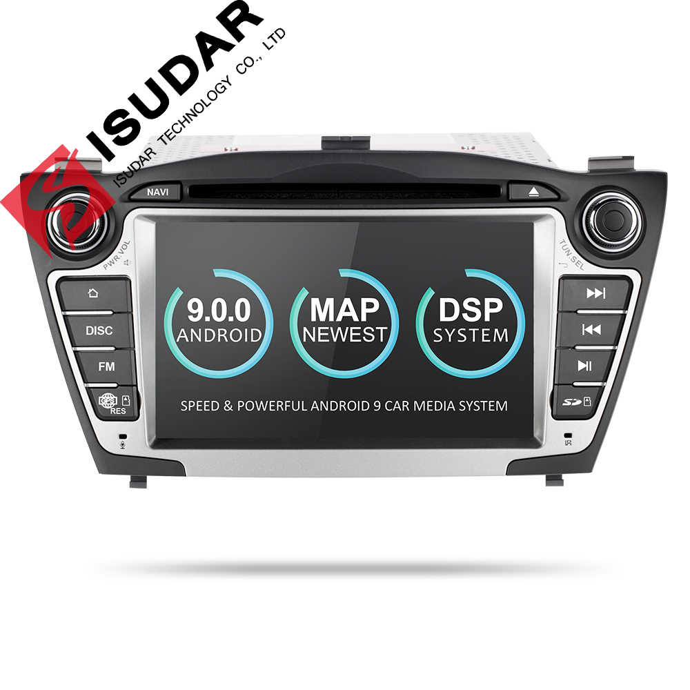 Isudar coche reproductor Multimedia GPS 2 Din Android 9 para Hyundai/IX35/TUCSON 2009-2015 Canbus Auto radio USB DVR reproductor de DVD DSP FM