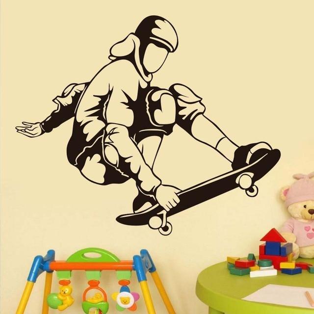Kids Room Decorative Airborne Skater Wall Sticker Waterproof Vinyl ...