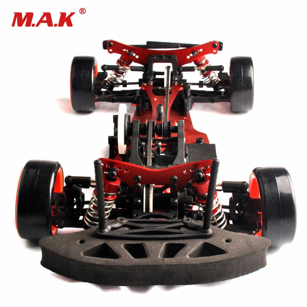 1 10 alum alloy carbon 4wd rc drift car kit on road. Black Bedroom Furniture Sets. Home Design Ideas