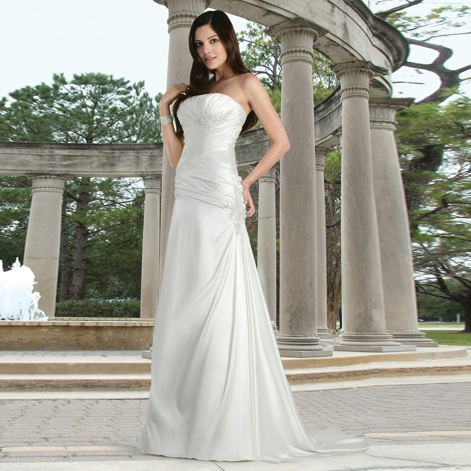 Wedding dresses tall women promotion shop for promotional for Tall dresses for weddings