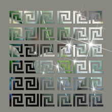 Home Decor Puzzle Labyrinth acrylic mirrored decorative sticker for wall decals gold silver mirrors