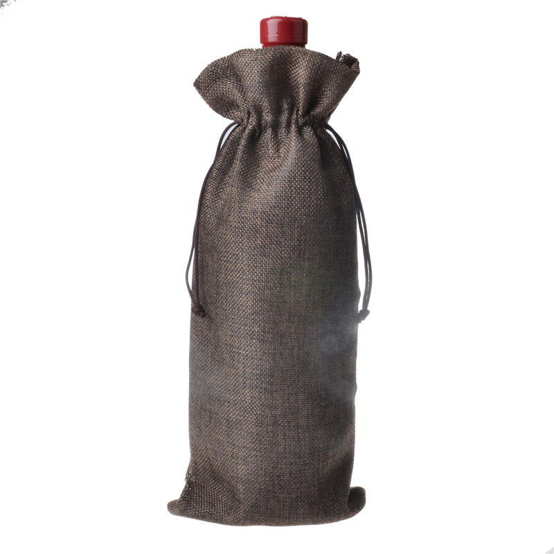 Jute Wine Bottle Bags 15cmx35cm 6 X 185 Champagne Bottle Covers