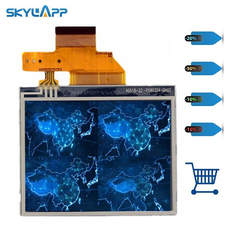 Skylarpu 3.5 inch LCD screen for Garmin Nuvi 200 255 260 270 275 1200 1240 1250 LQ035Q1DH01 display panel Free shipping(China)