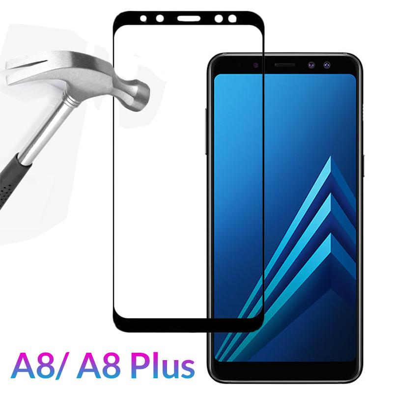 Protective Glass For Samsung <font><b>Galaxy</b></font> A8 <font><b>2018</b></font> Case Cover Tempered Glass on For Samsung A8 Plus <font><b>2018</b></font> <font><b>A</b></font> <font><b>8</b></font> A8Plus A530 A8+ 8A 3D Film image