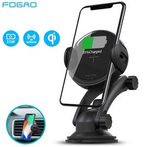 FDGAO Phone-Holder-Stand Car-Charger Automatic-Mount iPhone Xs Fast Samsung S10 Wireless