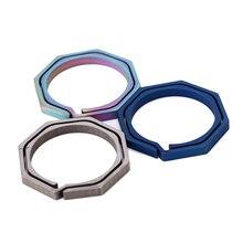 Брелок Octagon titanium TC4 Ti крюк Открытый клип набор Пряжка многофункциональный брелок для ключей кольцо Повседневная Экипировка Кемпинг ключ карманный гаджет поход