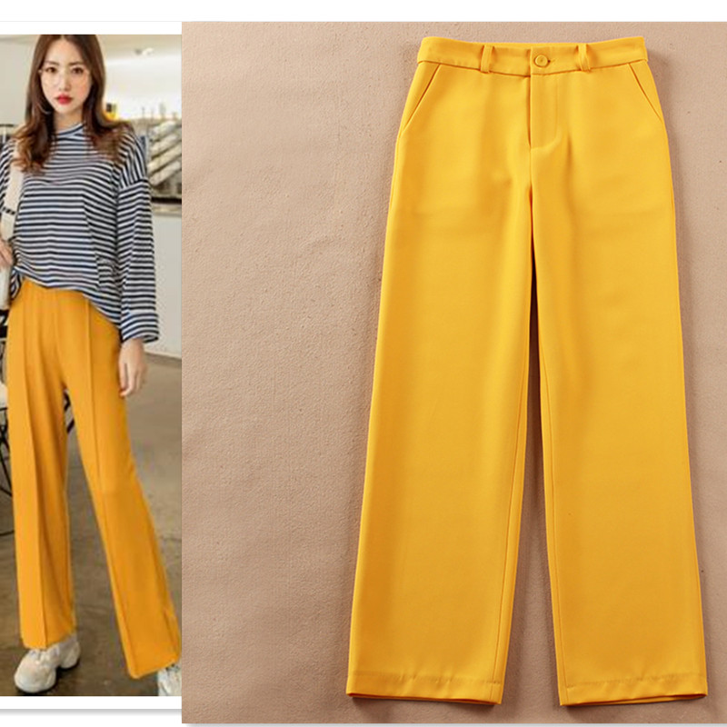 Women Clothes New   Pants   Women's Spring and Summer Thin Section Loose Drape Straight Trousers   Wide     Leg     Pants   Wild Women   Pants