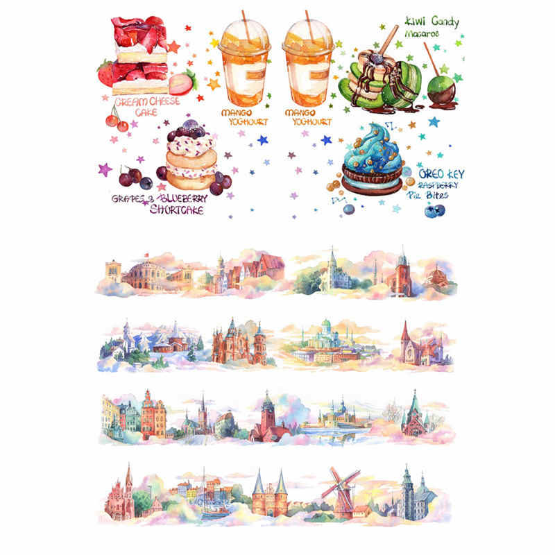 2 pz/lotto Coreano Tree House Cosas Kawaii Uncut Adesivi Scrapbooking Cancelleria Washi Nastro Set di Materiale Scolastico