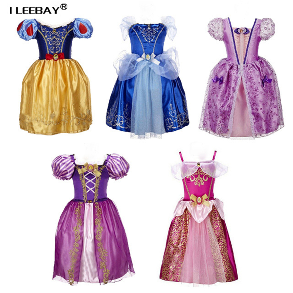 Baby Girl Princess Party Suknie Kids Girl Snow White Cinderella Sleeping Beauty Clothing Sofia Rapunzel Cosplay Costume Vestido