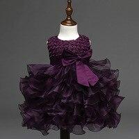 LSK011 Fancy Bling Girls Party Dress Cake Layers Belted Princess Dress Sleeveless Baby Girls Dress 2016