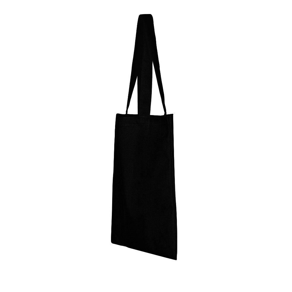 a3b400cbe2a3 2018 Fashion Plain Black Women Shoulder Bag High Quality Portable Blank  Handbag Hot sale Leisure School Bag Shopping Bags  40%C-in Shoulder Bags  from ...