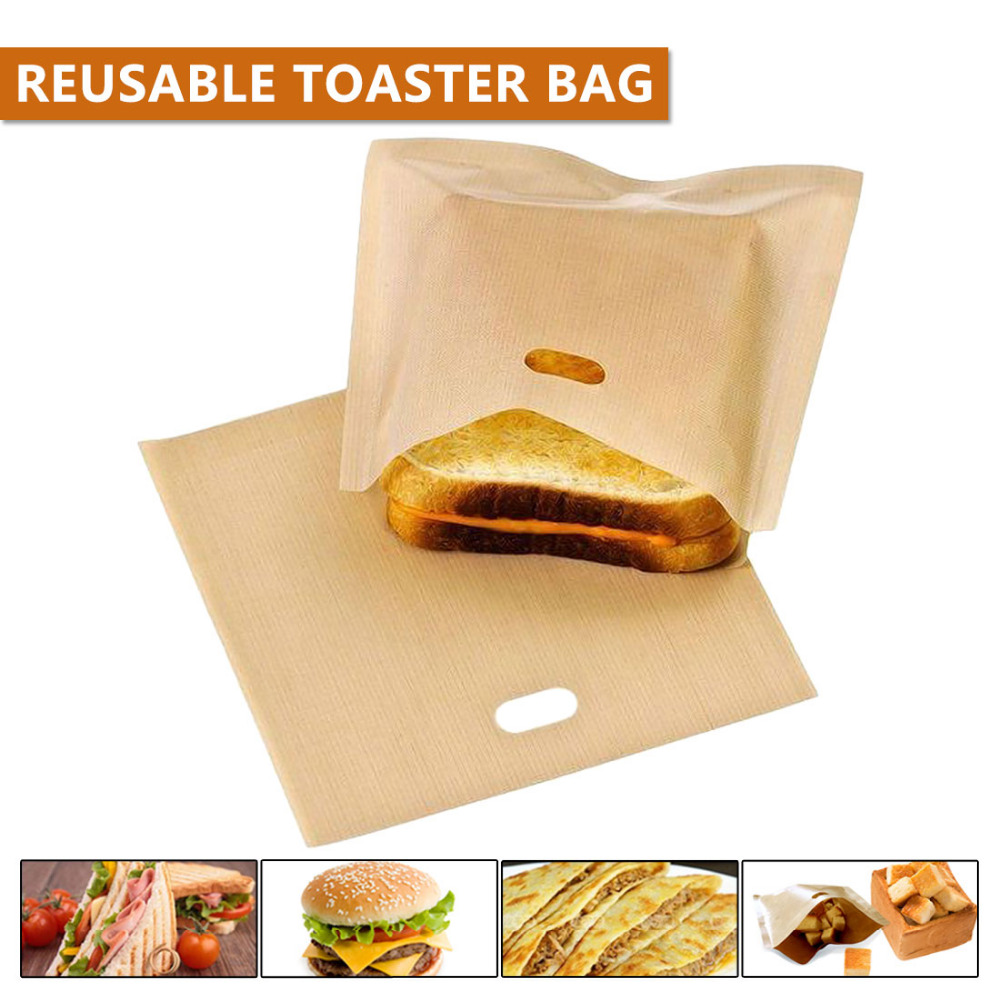 Pastry Tools New Style Reusable Toaster Bag Non Stick Bread Bag Sandwich Bags Coated Fiberglass Toast Microwave Heating Тостер