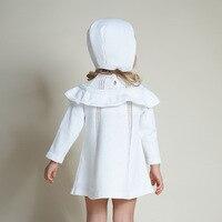 Vente chaude Mignon Enfants Enfants Filles D'été En Tricot Pull Robe Vêtements Set Tricot Bonnets Chapeau Robe Outwear 2 pcs/ensemble 0-4 Ans
