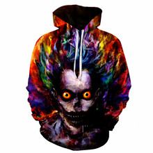 Liu Maohua 2018 Hooded Hoodie  Print Sweatshirt Hip hop Fashion 3D Tops