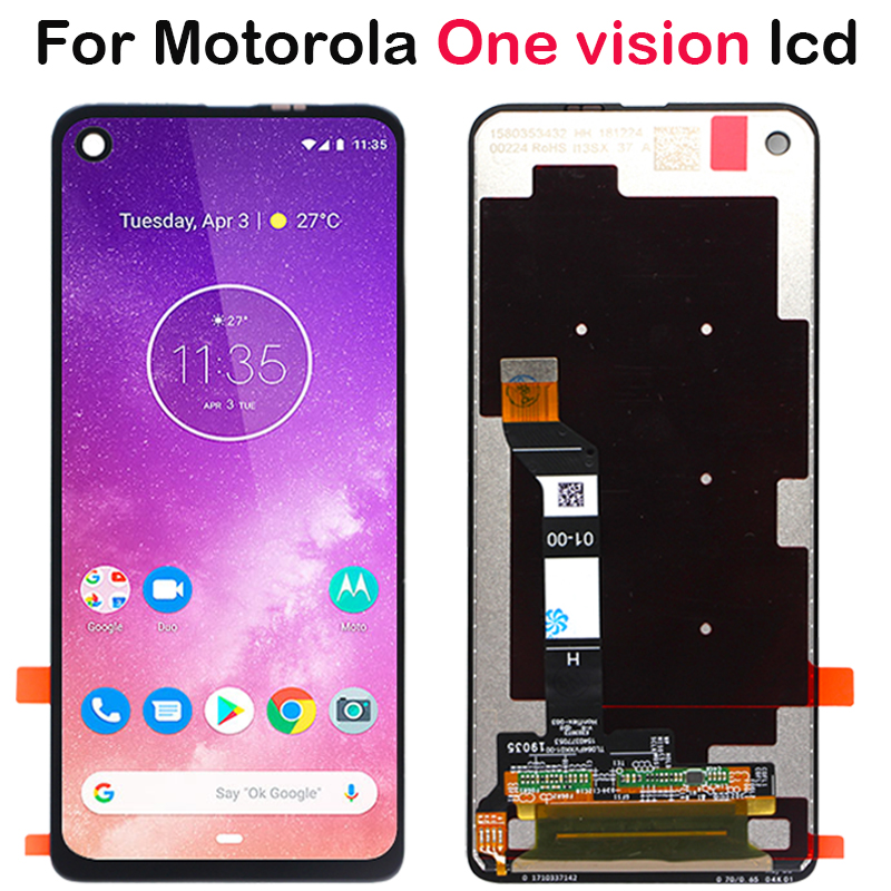 New For Motorola One Vision LCD moto P50 XT1970 LCD Display Touch Screen Digitizer Assembly Replacement Parts For Moto P50 LCD-in Mobile Phone LCD Screens from Cellphones & Telecommunications    1
