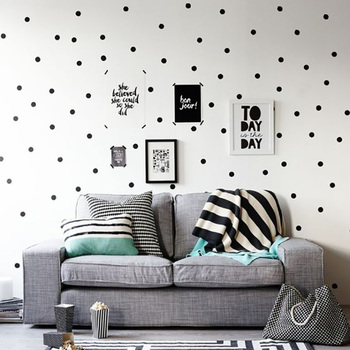 Black Dots Wall Stickers For Kids Room Baby Nursery Stickers Home Decor Kids Wall Sticker Baby Room Children Home Decoration kids wall sticker stars baby nursery bedroom wall sticker for kids room children wall decals art wallpaper home decoration