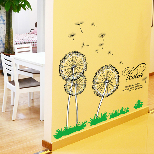 Beautiful Home Decor Dandelion Bicycle Girl Backdrop Decorative Arts ...