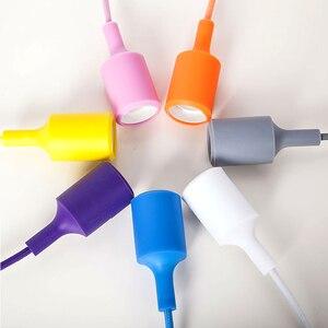 Image 2 - Nowoczesne kolorowe lampy wiszące jadalnia lampy wiszące krzemionka materiał żelowy trzynaście kolorów uchwyt E27
