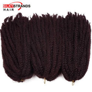 Marley Braids Hair-Extensions Hair-Crochet Silky Afro Strands Bulk Synthetic Ombre
