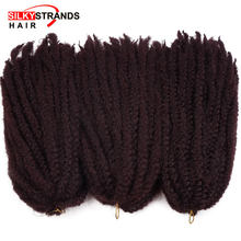 Silky Strands Marley Braids Hair Crochet Ombre Afro Kinki Kanekalon Synthetic Braiding Hair Crochet Braids Hair Extensions Bulk(China)
