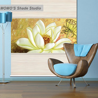 MOMO Blackout Lotus Window Curtains Roller Shades Blinds Thermal Insulated Fabric Custom Size, Alice 421